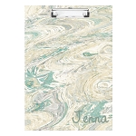 Crazy Green Marbled Personalized Double Sided Hardboard Clipboard