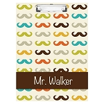 Multicolored Mustache Double Sided Clipboard