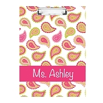 Multicolored Paisley Double Sided Clipboard