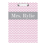 Pink Chevron Double Sided Clipboard