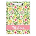 Crazy Paisley Personalized Double Sided Hardboard Clipboard