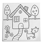 Home Sweet Home Canvas Painting Art Set for Kids