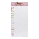 Pretty in Pink Perforated List Pad