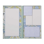 Green and Blue Paisley Assorted Sticky Note Set