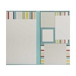 Multicolored Stripe Assorted Sticky Note Set
