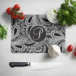 Black Patterned Glass Cutting Board