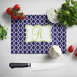 Blue Ornamental Glass Cutting Board