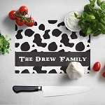 Cow Print Glass Cutting Board