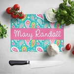 Crazy Paisley Glass Cutting Board