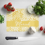 Gold Floral Glass Cutting Board