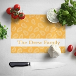 Gold Paisley Glass Cutting Board