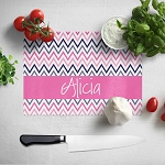 Crazy Chevron Glass Cutting Board