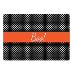 Halloween Black and White Dots Glass Cutting Board