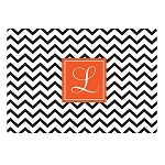 Black Chevron Glass Cutting Board