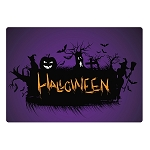 Halloween Ghouls Glass Cutting Board