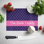 Pink and Blue Glass Cutting Board