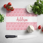 Daisy Floral Glass Cutting Board