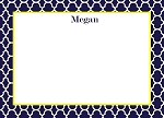 Blue Quarterfoil Custom Thank You Card