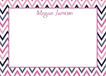 Multicolored Chevron Custom Thank You Card