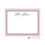 Pink Elegant Dots Custom Thank You Card  by Stacy Claire Boyd