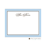 Blue Scalloped Custom Thank You Card  by Stacy Claire Boyd