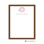 Gingham Flower Custom Thank You Card  by Stacy Claire Boyd