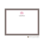 Pink Elephant Custom Thank You Card  by Stacy Claire Boyd
