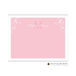 Pink Floral Accent Custom Thank You Card  by Stacy Claire Boyd