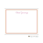 Orange and Pink Custom Thank You Card by Stacy Claire Boyd