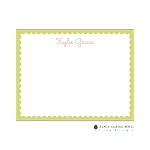Green Scalloped Custom Thank You Card by Stacy Claire Boyd