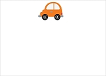 Orange Car Custom Thank You Card