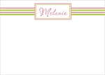 Pink and Green Striped Custom Thank You Card