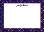 Pink and Navy Custom Thank You Card