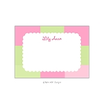 Pink and Green Blocked Custom Thank You Card by Take Note Designs