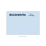 Blue Train Custom Thank You Card by Take Note Designs
