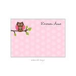 Pink Owl Custom Thank You Card by Take Note Designs