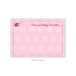 Little Ladybug Custom Thank You Card by Take Note Designs