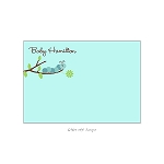 Blue Caterpillar Custom Thank You Card by Take Note Designs