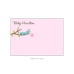 Pink Caterpillar Custom Thank You Card by Take Note Designs