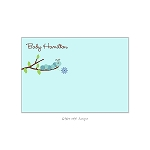 Blue Floral Caterpillar Custom Thank You Card by Take Note Designs