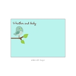 Green Bird Custom Thank You Card by Take Note Designs