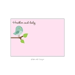 Pink Bird 2 Custom Thank You Card by Take Note Designs
