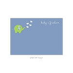 Blue Dotted Elephant Custom Thank You Card by Take Note Designs