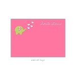 Pink Dotted Elephant Custom Thank You Card by Take Note Designs