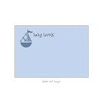 Sailboat Custom Thank You Card by Take Note Designs