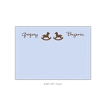 Twin Rocking Horses Custom Thank You Card by Take Note Designs