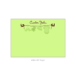 Green Clothesline Custom Thank You Card by Take Note Designs