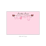 Pink Clothesline Custom Thank You Card by Take Note Designs