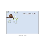 Embellished Owl Custom Thank You Card by Take Note Designs