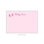 Pink Baby Shoes Custom Thank You Card by Take Note Designs